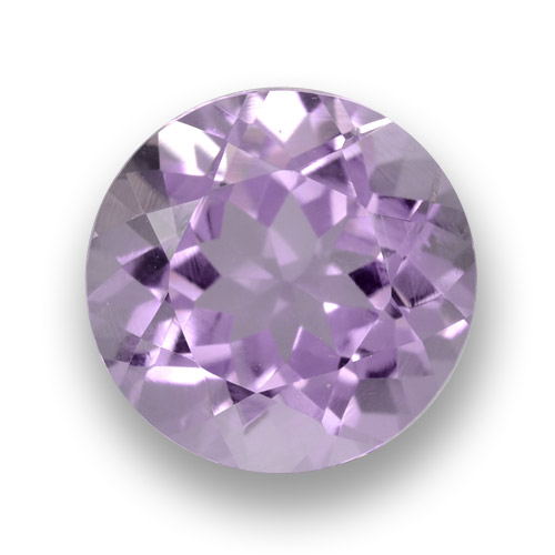 Medium-Light Violet Ametista Gem - 2.5ct Sfaccettatura rotonda (ID: 460689)