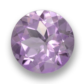 Medium Violet Amatista Gema - 3.2ct Faceta Redonda (ID: 460786)