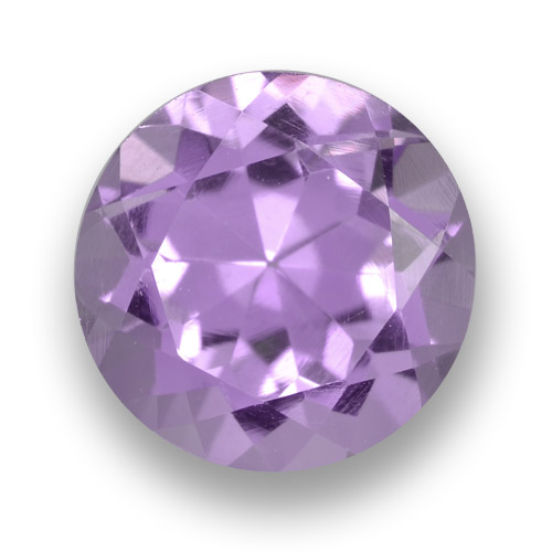 Medium Violet Amethyst Gem - 2.6ct Round Facet (ID: 460912)