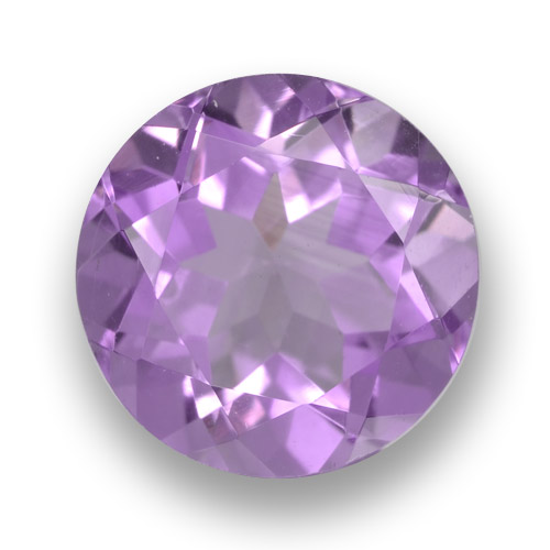 Medium Pinkish Violet Amethyst Gem - 2.5ct Round Facet (ID: 461116)