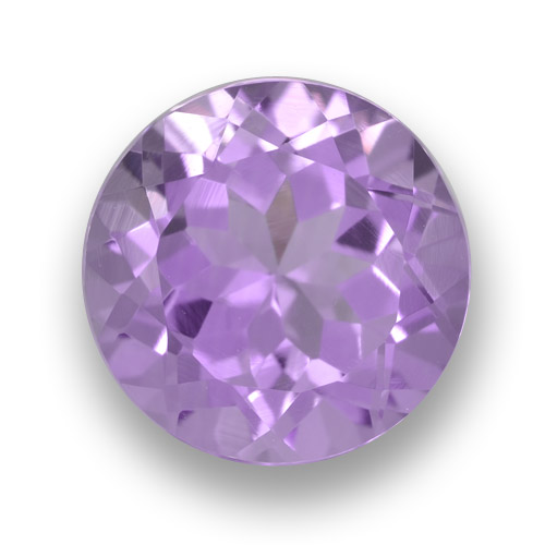 Pinkish Violet Amethyst Gem - 3.6ct Round Facet (ID: 461118)