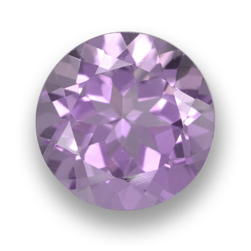 Medium Pink Violet Amethyst Gem - 3.5ct Round Facet (ID: 461254)
