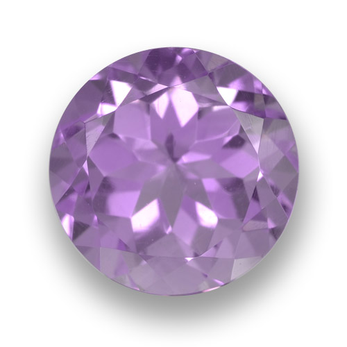 Medium Pink Violet Amatista Gema - 3.4ct Faceta Redonda (ID: 461264)