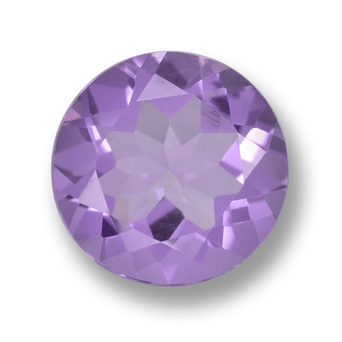 Medium Violet Amethyst Gem - 2.2ct Round Facet (ID: 461305)