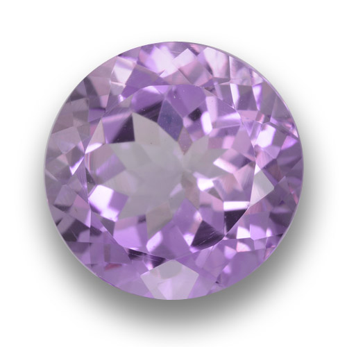 Medium Violet Amethyst Gem - 7.2ct Round Facet (ID: 462333)