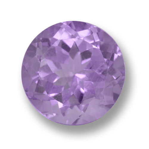 Medium Violet Amethyst Gem - 4.8ct Round Facet (ID: 462471)