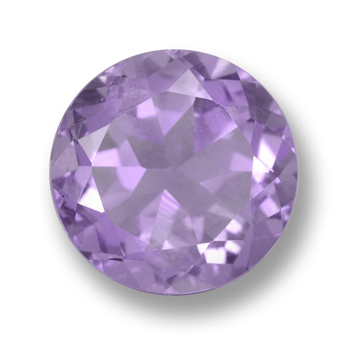 Medium Violet Amatista Gema - 3.9ct Faceta Redonda (ID: 462473)