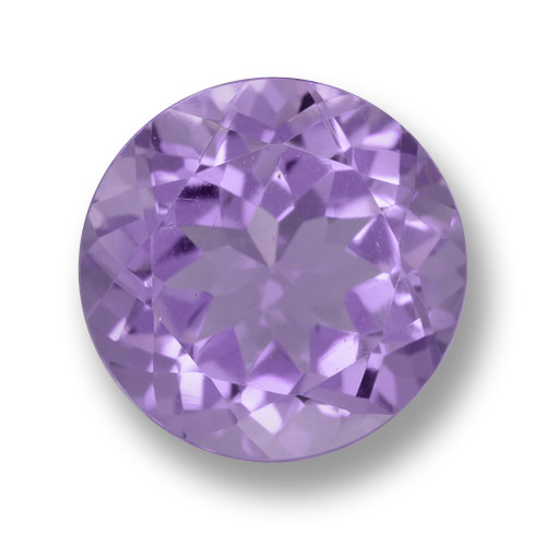Medium Violet Amethyst Gem - 4.1ct Round Facet (ID: 462477)