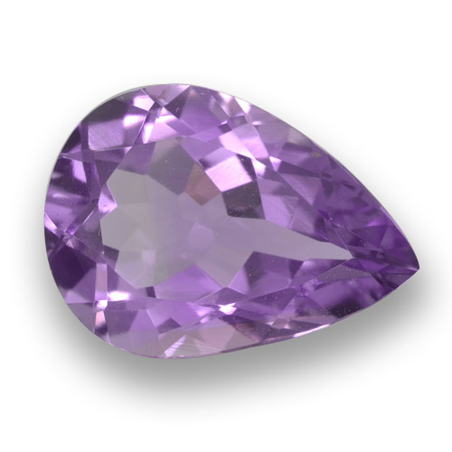 Violet Amethyst Gem - 4.4ct Pear Facet (ID: 462957)