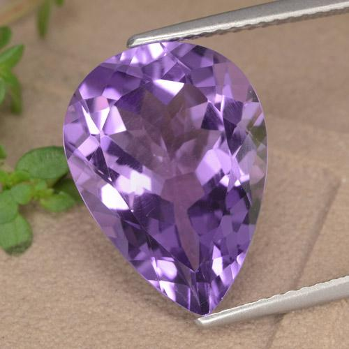 Violet Amethyst Gem - 6.9ct Pear Facet (ID: 476069)