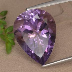 Medium-Dark Purplish Violet Ametista Gem - 7.3ct Sfaccettatura a pera (ID: 476419)