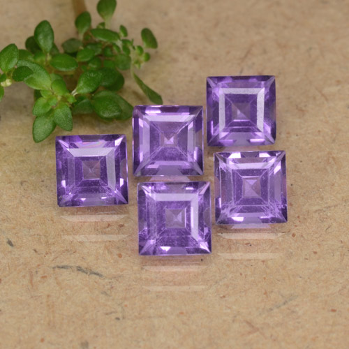 Violet Amethyst Gem - 0.4ct Square Step-Cut (ID: 477131)