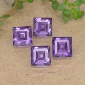 Violet Amethyst Gem - 0.4ct Square Step-Cut (ID: 477136)