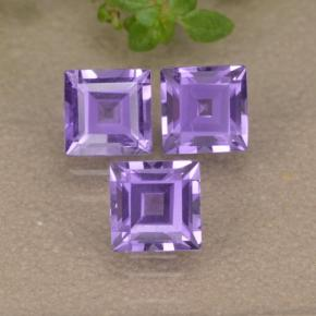 Violet Amethyst Gem - 0.4ct Square Step-Cut (ID: 477160)