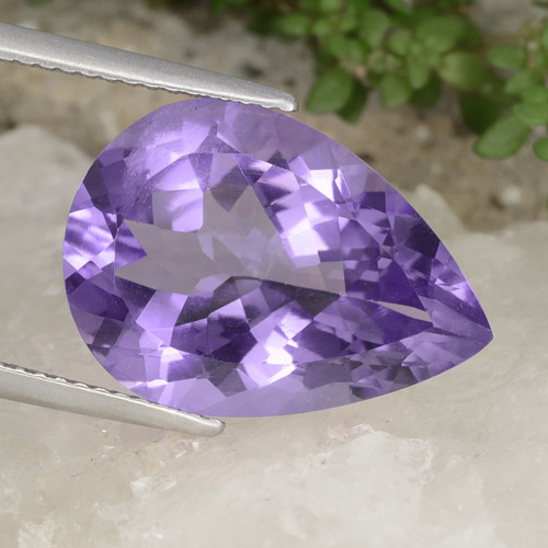 Violet Amethyst Gem - 8.5ct Pear Facet (ID: 478264)