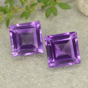 CaratYogi Pietra di Ametista Originale da 2 carati a 5 carati Forma Quadrata Colore: Viola