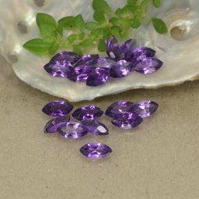 Violet Amethyst Gem - 0.2ct Marquise Facet (ID: 493347)