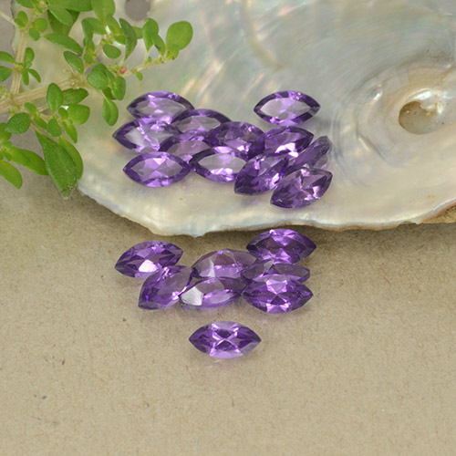 Medium Violet Amethyst Gem - 0.2ct Marquise Facet (ID: 493476)