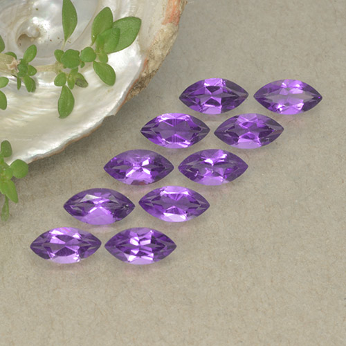 0.3ct Marquise Facet Deep Violet Amethyst Gem (ID: 493566)