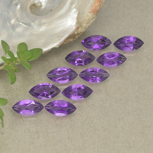 0.2ct Marquise Facet Intense Violet Amethyst Gem (ID: 493568)