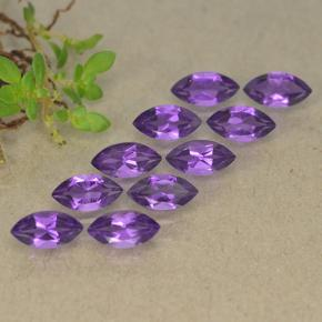 0.3ct Marquise Facet Intense Violet Amethyst Gem (ID: 493623)