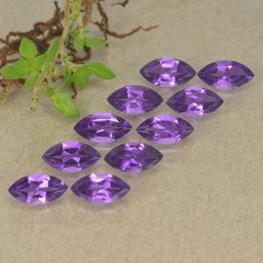 0.3ct Marquise Facet Intense Violet Amethyst Gem (ID: 493625)