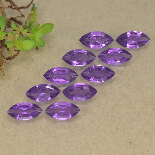 Violet Amethyst Gem - 0.2ct Marquise Facet (ID: 493629)