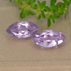 Light Pinkish Violet Amethyst Gem - 1.6ct Marquise Facet (ID: 493829)