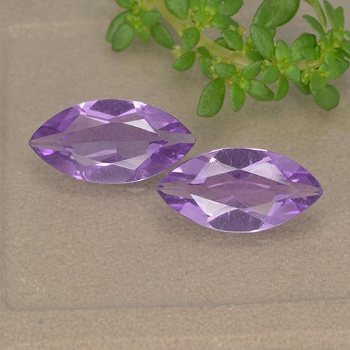 Violet Amethyst Gem - 1.4ct Marquise Facet (ID: 493837)