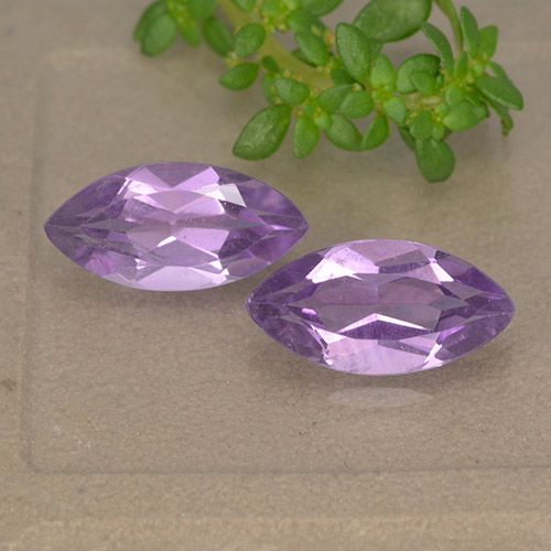 1.7ct Marquise Facet Pinkish Violet Amethyst Gem (ID: 493839)