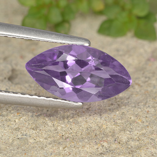 Violet Amethyst Gem - 1.7ct Marquise Facet (ID: 493861)