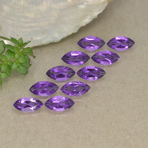 0.2ct Marquise Facet Violet Amethyst Gem (ID: 493901)