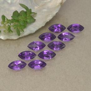 Violet Amethyst Gem - 0.3ct Marquise Facet (ID: 493906)