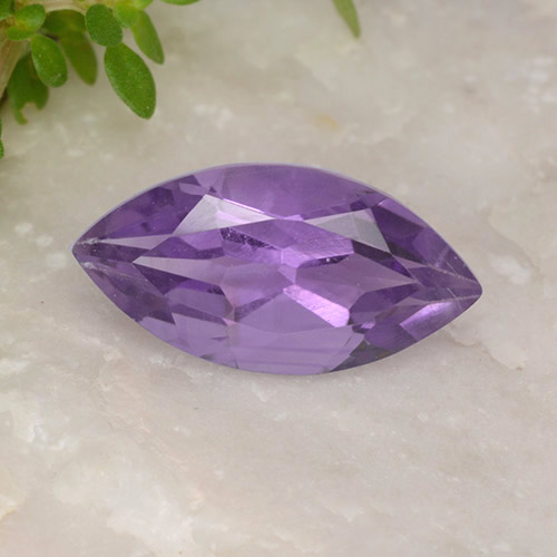 1.8ct Marquise Facet Deep Violet Amethyst Gem (ID: 494418)