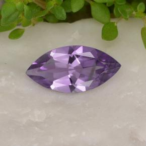 Violet Amethyst Gem - 1.6ct Marquise Facet (ID: 494432)