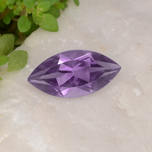 Medium Violet Amethyst Gem - 1.7ct Marquise Facet (ID: 494439)