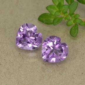 Violet Amethyst Gem - 0.7ct Heart Facet (ID: 495395)