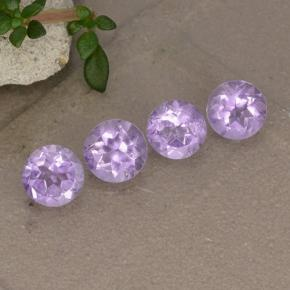 Light Pinkish Violet Amatista Gema - 0.5ct Faceta Redonda (ID: 495655)