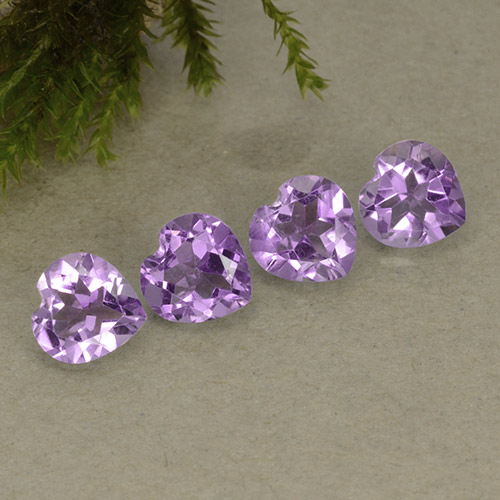 Violet Amethyst Gem - 0.7ct Heart Facet (ID: 497244)