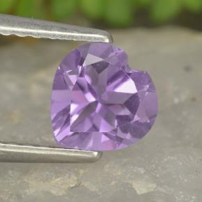 thumb image of 0.7ct Heart Facet Violet Amethyst (ID: 497453)