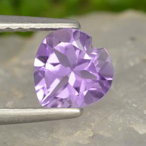 thumb image of 0.7ct Heart Facet Violet Amethyst (ID: 497459)
