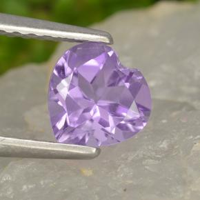 thumb image of 0.7ct Heart Facet Violet Amethyst (ID: 497462)