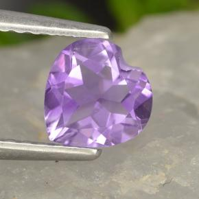 0.7ct Heart Facet Violet Amethyst Gem (ID: 497463)