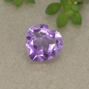 thumb image of 0.7ct Heart Facet Violet Amethyst (ID: 497696)