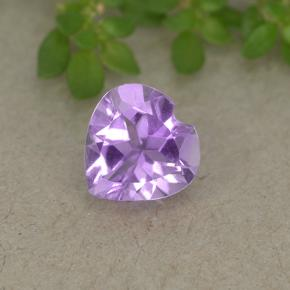 thumb image of 0.6ct Heart Facet Violet Amethyst (ID: 497700)