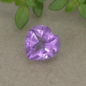 thumb image of 0.7ct Heart Facet Violet Amethyst (ID: 497703)