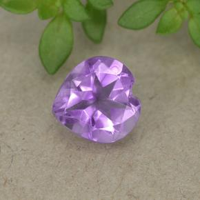 thumb image of 0.7ct Heart Facet Violet Amethyst (ID: 497704)