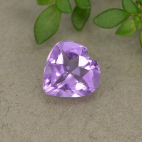 thumb image of 0.6ct Heart Facet Violet Amethyst (ID: 497706)