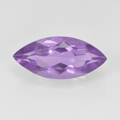 1.4ct Marquise Facet Pinkish Iris Violet Amethyst Gem (ID: 500033)