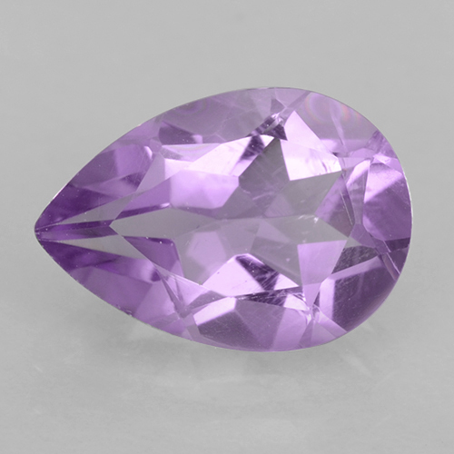 Medium Pink Violet Amethyst Gem - 1.7ct Pear Facet (ID: 501813)